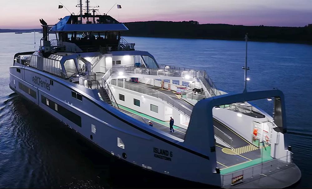 Second Island Class ferry coming to Gabriola has left Romania